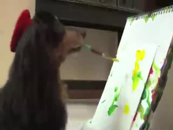 A Blind Dog that Paints for a Good Cause